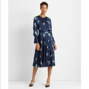 Floral Belted Midi Dress